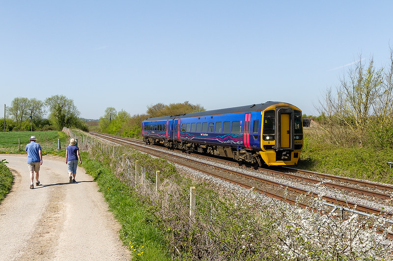 21st Apr 2015:  Doing one of the regular Westbury crew refresher trips is 58763. Pictured on the Up Cut Off line 5Z75 started from Westbury and has been to East Somerset Junction.  At Heywood Road Junction it will reverse and traval to Bradford Junction befre returning to Westbury
