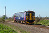 14th Apr 2015:  153361 forming 2M08 the 11.47 from Westbury to Swindon scoots through Broughton Gifford