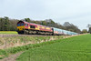 10th Apr 2015:  66119 on the point of 4M52 Southampton Eastern Docks to Castle Bromwich.  Not the normal view at Norton Bavant perhaps but it does make a change.