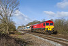 1st April 2015:  59206 working 7A74 from Whatley to Theale at Masters Crossing in Fairwood