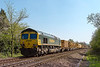 20th Apr 2015:  Running away from  Dursley Roaqd bridge in Heywood towards Hawkeridge is 66536 TnT 66507 on 6X04 from Wembley Eurofreight Centre to Fairwater Yard