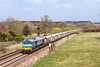 8th Apr 2015:  59005 with the Hidher Green to Whatley empties, 6V18, at Brimslade Farm near Wootton Rivers