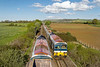 29th Apr 2015:  59102 working from Acton to Merehead passes a stationary 59103 at Fairwood