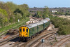 18th Apr 2015:  Hastings Thumper 1001 takes the Avon Valley route as it leaves Westbury with 1Z08 'The Green Dragon' Tour from Hastings to Cardiff. Sounded superb.