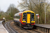3rd Apr 2015:  SWT unit 158884 arriving at Warminster with the 1005 from Westbury.  Here it will reverse and form 2C12 the 10.25 back to Westbury