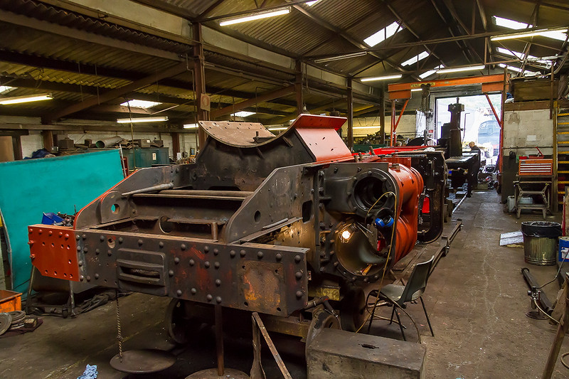 8th Aug 2015:  Ivat Tank 41313 uindergoing restoration in the East Somerset Workshops.  Hand held at 1/125 @ f5.6  iso 3200  Canon 7D  Canon 17-85 usm lens