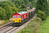 3rd Aug 2015:  Running through Great Cheverell is 59204 on a rather short 7C77 from Acton to Merehead
