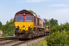 18th Aug 2015:  66085 climbs through Dilton Marsh with the morning departmental to Eastleigh from Westbury