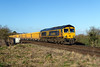 27th Feb 2015:  66716 on 6O14 from Westbury to Eastleigh at Bapton