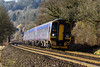 18th Feb 2015:  Leaning to the bends through Limpley Stoke is 158956 working 1F08 the 07.05 Portsmouth Harbour to Cardiff Central