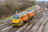 2nd Feb 2015:  Colas Rail Tamper DR73805arriving back into Westbury having started from Oxford Up Carriage Sidings