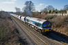 4th Feb 2015:  59101 'Village of Whatley'  heads 7Z12 Merehead to Wootton Bassett along the Frome 'Cut Off' at Styles Hill.