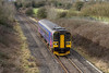 26th Jan 2015:  Doing the sort of job it was designed for FGW Sprinter 153318 is working 2M08 the 11.47 shuttle to Swindon from Westbury through Broughton Gifford