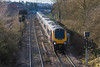 18th Jan 2015:  With the Bristol to Taunton line closed Cross Country services were being diverted via Westbury again.    1S47 the 09.25 from Plymouth to Glasgow departing from Westbury.  The green is giving the all clear to 1V45 the 09.30 Cross Country from Birmingham New Street to Plymouth which appeared from under the bridge and ruined the next frame.