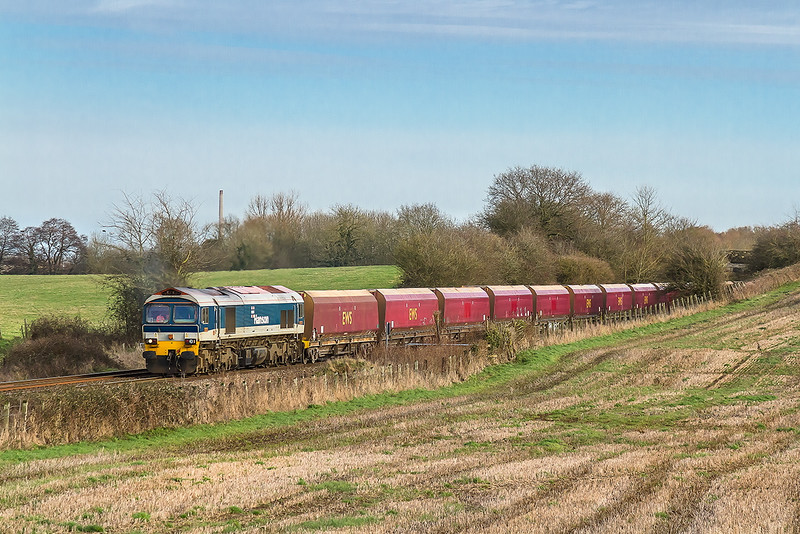 14th Jan 2015:  Running 40 minutes late is 59101 on the point of 7C31 from Theale to Whatley.  The location is between Westbury and Fairwood Junction