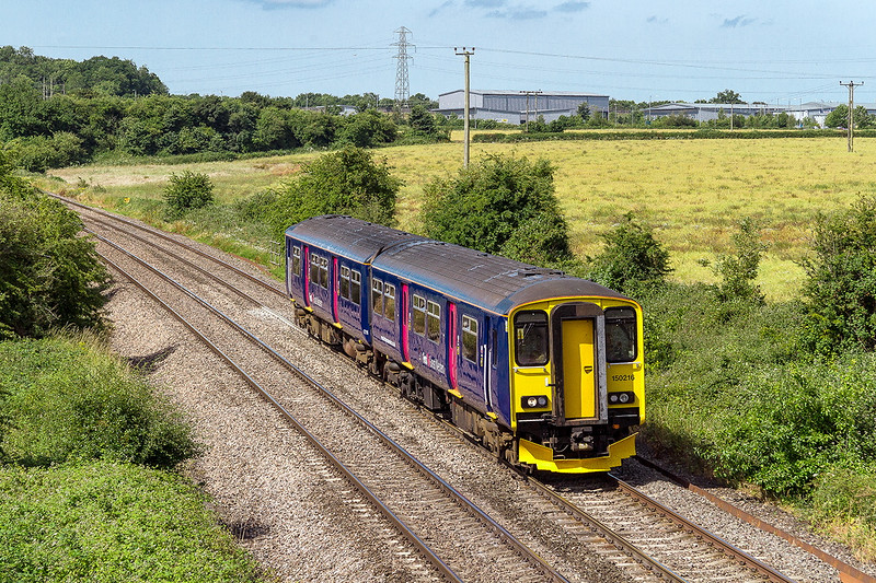 3rd Jul 2015:  Seen at  Berkley 2V88 is the 08.53 from Weymouth  to Bristol Temple Meads and  today is in the hands of 150216