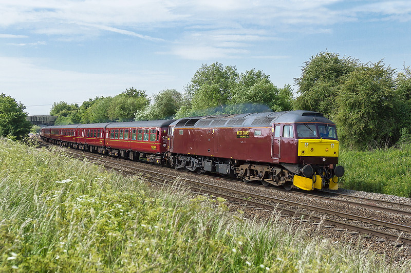 11th Jun 2015:  47760 at Hawkeridge Junction with 1Z61 from West Brompton to Bishops Lydeard.  It was due to be steam from Bristol but in the end would be the Brush 47 all the way.