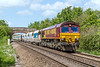 6th Jun 2015:  The May is over but the Daisies are out fror 66232 heading 6A63 from Avonmouth Bennets Siding to Westbury through Heywood