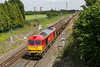 18th Jun 2015:  60092 in charge of 6B33 empty Murco tanks from Theale to Robeston at Steventon
