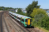 30th Jun 2015:    377428 trundles towards Northam with1N71 the 13.33 from Brighton to Southampton Central