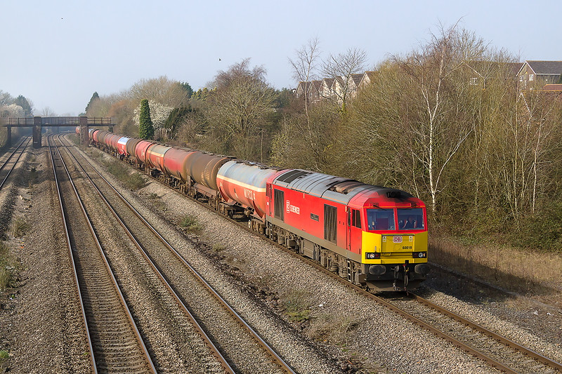 18th Mar 2015:  60019i is pictuured at Undy wth 6B13 the 05.00 from Robeston to Westerleigh