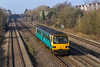 18th Mar 2015:  Scooting along through Undy is Arriva Trains 153607 forming 2L49 08.46 Cheltenham to Maesteg.  How much longer will these little 4 wheelers be kept in service I wonder?