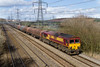 26th Mar 2015:   Captured at Duffryn is 66140 in charge of 6H36 covered steel from East Usk Branch Birdport to Margam TC