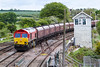 20th May 2015:  Passing the' Leaning Box of Barnetby' is 66185 heading 6H60 from Humber Iinternational to Drax