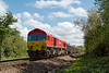 12th May 2015:  59204 powers 6A57 through Heywood on its wat to Oxford Banbury Road from Whatley