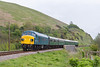 8th May 2015:  45060 'Sherwood Forrester' crosses the Studland Road viaduct as it leaves Corfe