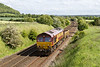 28th May 2015:  At Upton |Scudamore 6V41 and 66074 returns to Westbury with a single wagon of trash from Eastleigh
