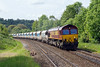 30th May 2015:  In a very fortunate patch of sun 66074 is captured at Freshford with 6A63 from Bennets Siding at Avonmouth to Westbury loaded stone