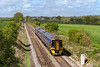 5th May 2015:  Racing along the straight through East Grimstead is 158963 working 1F09 the 09.30 Cardiff to Portsmouth Harbour