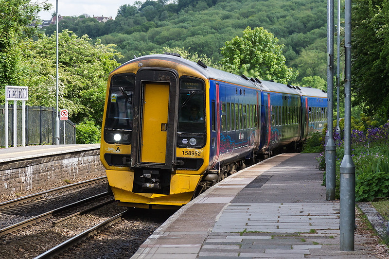 30th May 2015;  1F20 is the 13.23 frpm Portsmouth Harbour to Cardiff.  At 15.25 it is pictured as it races through Freshford