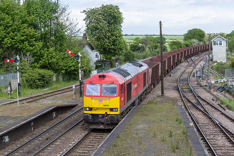20th May 2015:  Passing Barnetby East signal box 60079 returns to Scunthorpe with loaded Ore from Immingham
