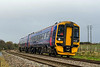 18th Nov 2015:  Now with the destination blind on 158766 changed to read 'Mystery Excursion' 5Z75 is about to cross 'Penleigh Park Crossing' on the Westbury Avoider on the return leg of the trip from Westbury to Westbury DMU Sidings via Heywood Road Junction (twice) and Castle Cary.