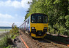 10th Sep 2015:  150120 & 150248 are forming 2A15 the 11.18 St Erth to St Ives, captured from the foot crossing at Lalant Halt