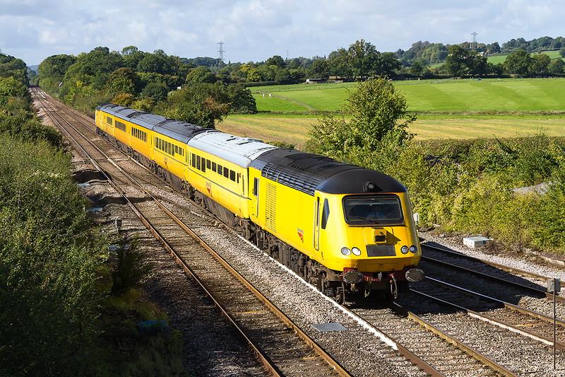 25th Sep 2015:   43013+43062 'John Armitt' up through Fairwood Junction, Westbury working the 05:00 Old Oak Common H.S.T.D. to London Paddington via Plymouth