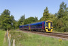 7th Sep 2015:  158959 looks good as it srosses Townsend Crossing in Wylye at 10.18 as it works 1F07 the 08.30 Cardiff to Portsmouth Harbour
