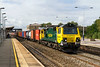 17th Sep 2015:  Crwaling up to the signal at Swindon is 70013 on the point of 4O70 from Wentloog to Southampton Maritime Container Terminal.  It stood at the signal for a long time fortunately as eventually there was a short blast of sun. It was the only working that was so lucky