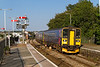 9th Sep 2015:  The 15.57 from Plymouth to Penzance calls at St Erth.  2C48 is on the hands of 153305 & 150123. The  two Down Line sidings behind the unit are now removed complete with the point work so how ling will it be before that whole area is converted into a wood?