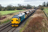 28th Jan 2016;  Making a fine sight is 37025 'Inverness TMD' and complete with a Highland Stag embem on the side is caprured at Acton Turvilel. 4B20 is  doing a Colas driver training run that started from Barrry and has been to Swindon.  The Freightliner HHAs are acting as Brake Force.  Sun would have been nice  but it was not a sxhot to be missed what ever the weather