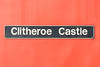 23rd Jan 2016:  The name plate fromn 60024 'Clitheroe Castle'