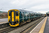 16th Jan 2016:  On it's first day out in the new Great Westen Railway livery 150232 arrives at Westbury with 2M98- the 12.27 Southampton Central to Great Malvern