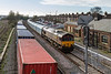 13th Jan 2016:  My first picture of a train on the Up Loop line at Eastleigh shows 66030 in charge of 4M53 from Southampton Eastern Docks to Castle Bromwich