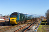 15th Jan 2016:  In GWR livery 43188 leads on 1B25 the 10.25 paddington to Swansea at Swindon