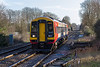 13th Jan 2016:  Arriving at Dean is 158890 that is working 2S19 the 09.07 from Romsey to Salisbury.  This service runs via Eastleigh and Southampton