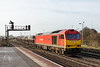 23rd Jan  2016:  Thw new shunter at Westbury 60024 doing what it came for.  By the time the approaching HST had cleared it was back in the sidings and shut down.  Lucky this time