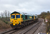 29th Jan 2016:  Running 54 minutes early through Dilton Marsh are 66564 & 66547 working as 0Y80 from Stoke Gifford to Eastleigh
