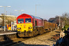 20th Jan 2016:  59206 powering through Chippenham with 6C48 the 13.30 from Appleford to Whatley.  The shot is taken from the abandonned Down Main platform